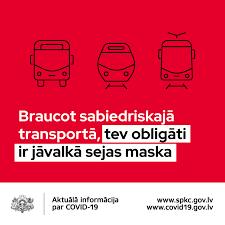No 7. oktobra sabiedriskajā transportā obligāti jālieto sejas maskas | NTZ